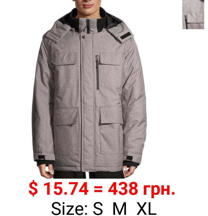SwissTech Men's and Big Men's Parka Jacket, Up to Size 5XL