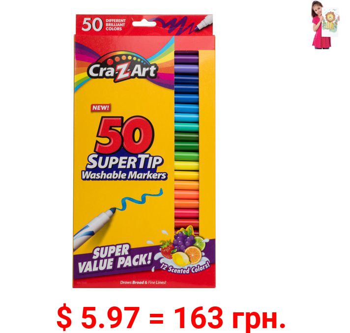 Cra-Z-Art Supertip Washable Marker, 50 Count