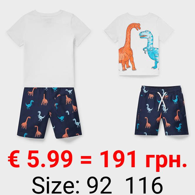 Dino - Set - Kurzarmshirt und Shorts - 2 teilig