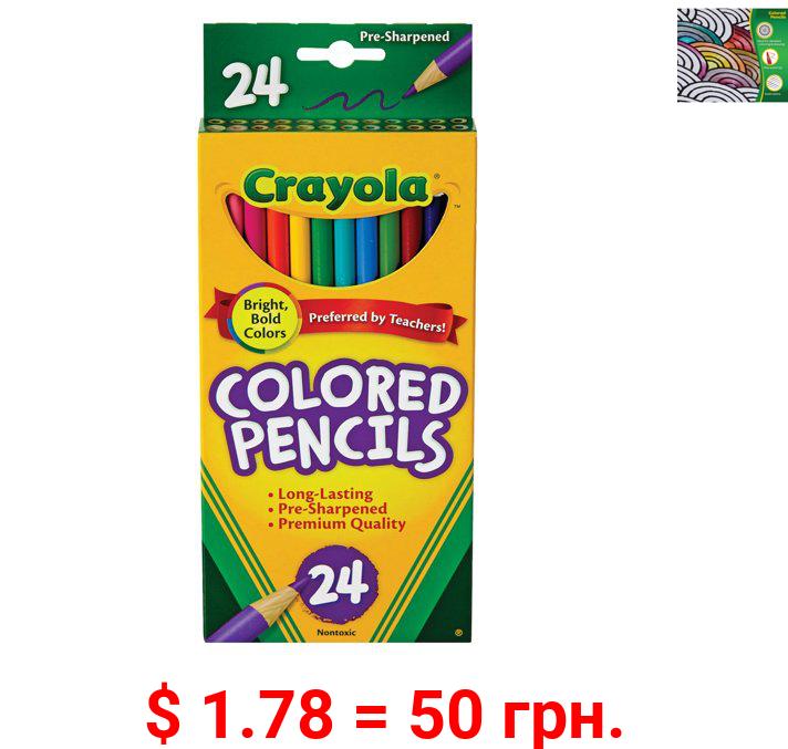 Crayola Colored Pencil Set, 24-Colors
