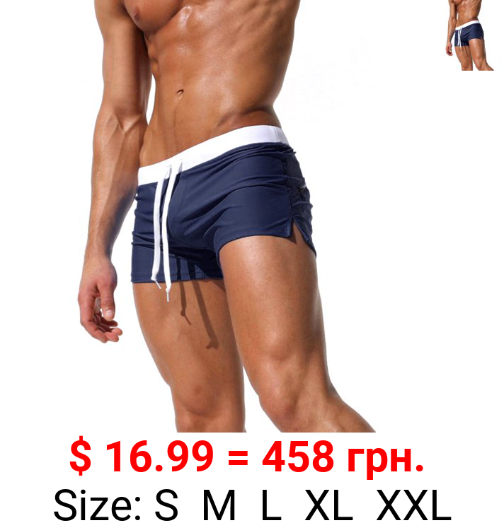 Mens Boys Swim Shorts Swimming Trunks Swimwear Beachwear Beach Trousers Shorts Swimsuit Board Shorts With Pocket Beach Pants Swimming Costumes Bathing Suit Underwear Casual Quick Dry Swimming Surfing