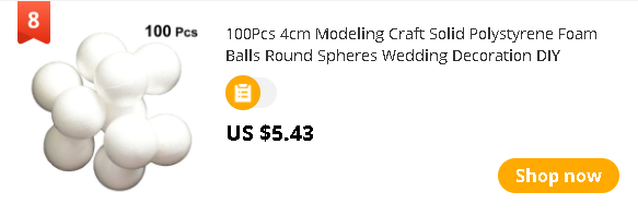 100Pcs 4cm Modeling Craft Solid Polystyrene Foam Balls Round Spheres Wedding Decoration DIY Stuff(White)