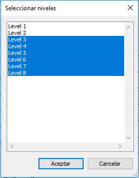 Seleccionar niveles