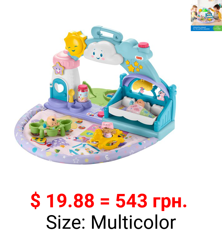 Fisher-Price Little People 1-2-3 Babies Playdate Musical Playset with 3 Multi-color Baby Dolls