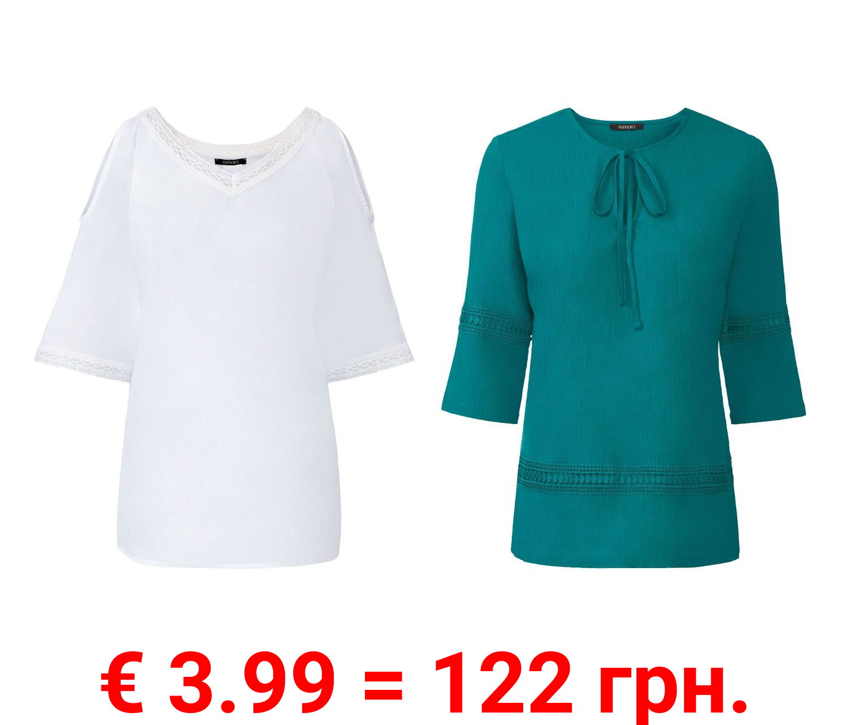 ESMARA® Tunika Damen, mit Spitze, tailliert geschnitten