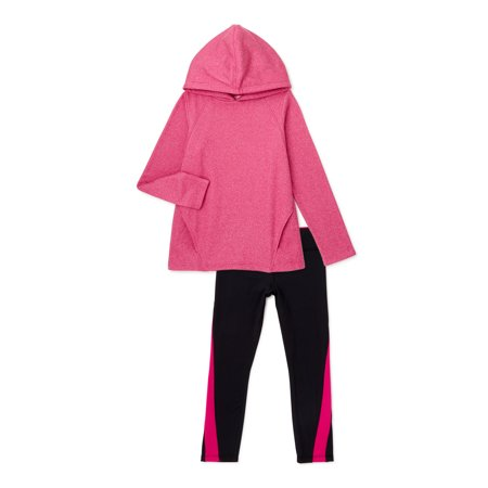 Athletic Works Girls Hoodie and Leggings 2-Piece Active Set, Sizes 4-16