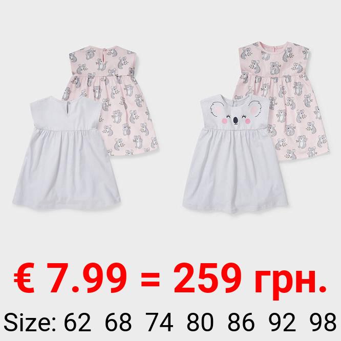 Multipack 2er - Baby-Kleid - Bio-Baumwolle