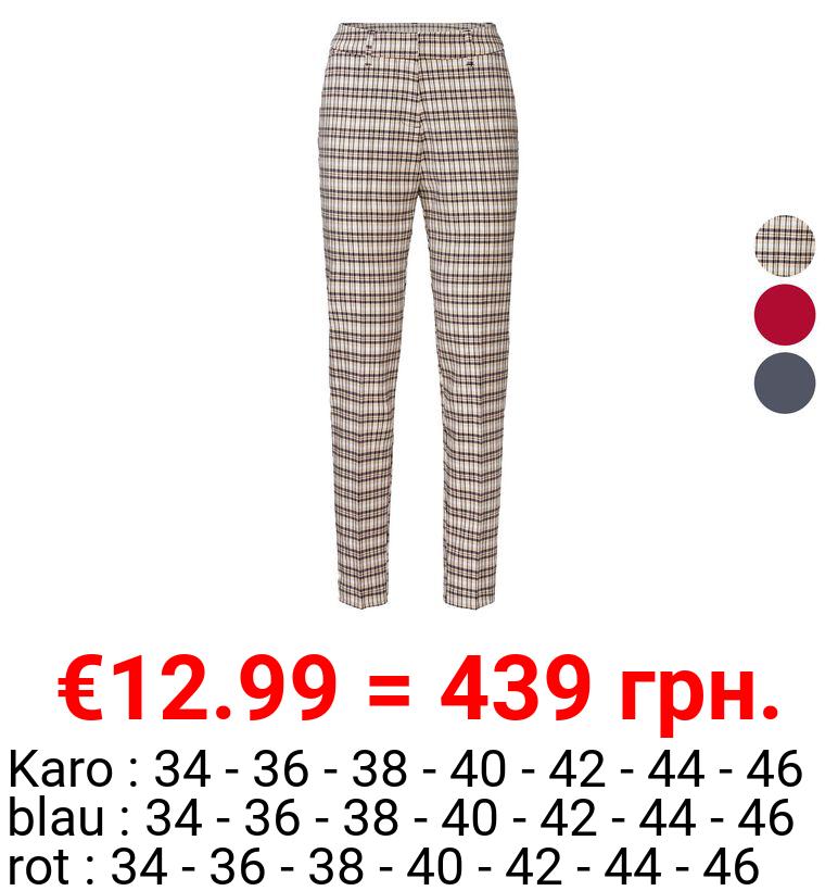 ESMARA® Stoffhose Damen, mit Bügelfalte, Fake-Taschen