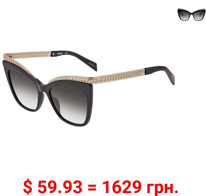Moschino Grey- Gold Cat Eye Ladies Sunglasses MOS009/S 0807 FQ 52