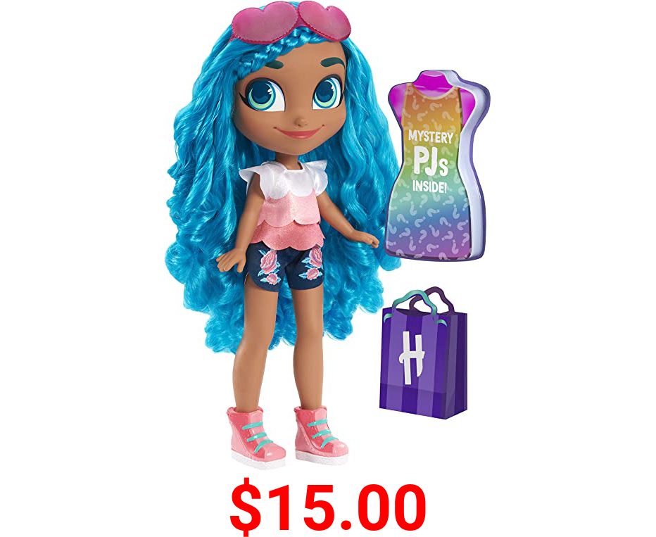 Hairdorables 18-Inch Mystery Fashion Noah Doll, Includes Surprise Outfit, Blue Hair