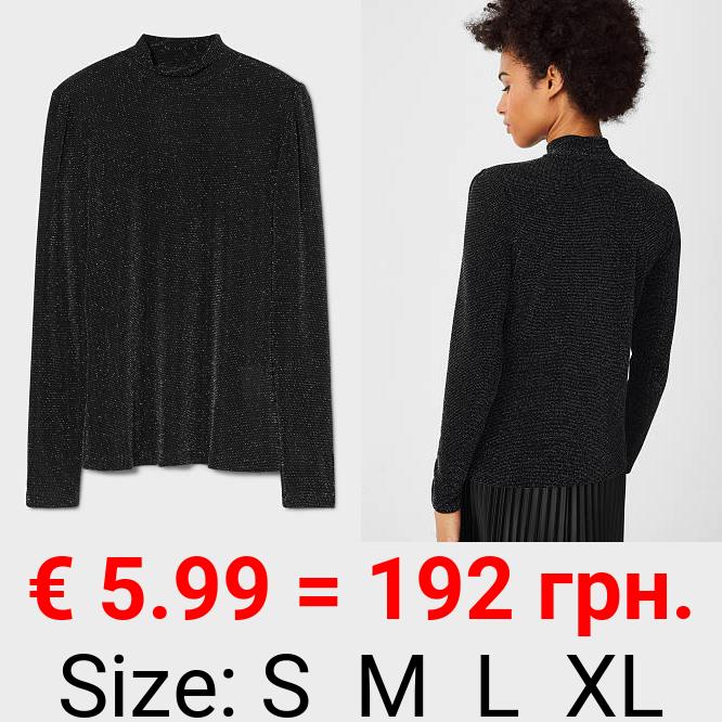 Langarmshirt - glänzend