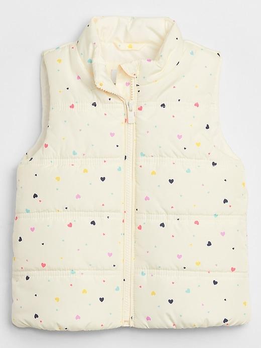 Toddler Print Puffer Vest