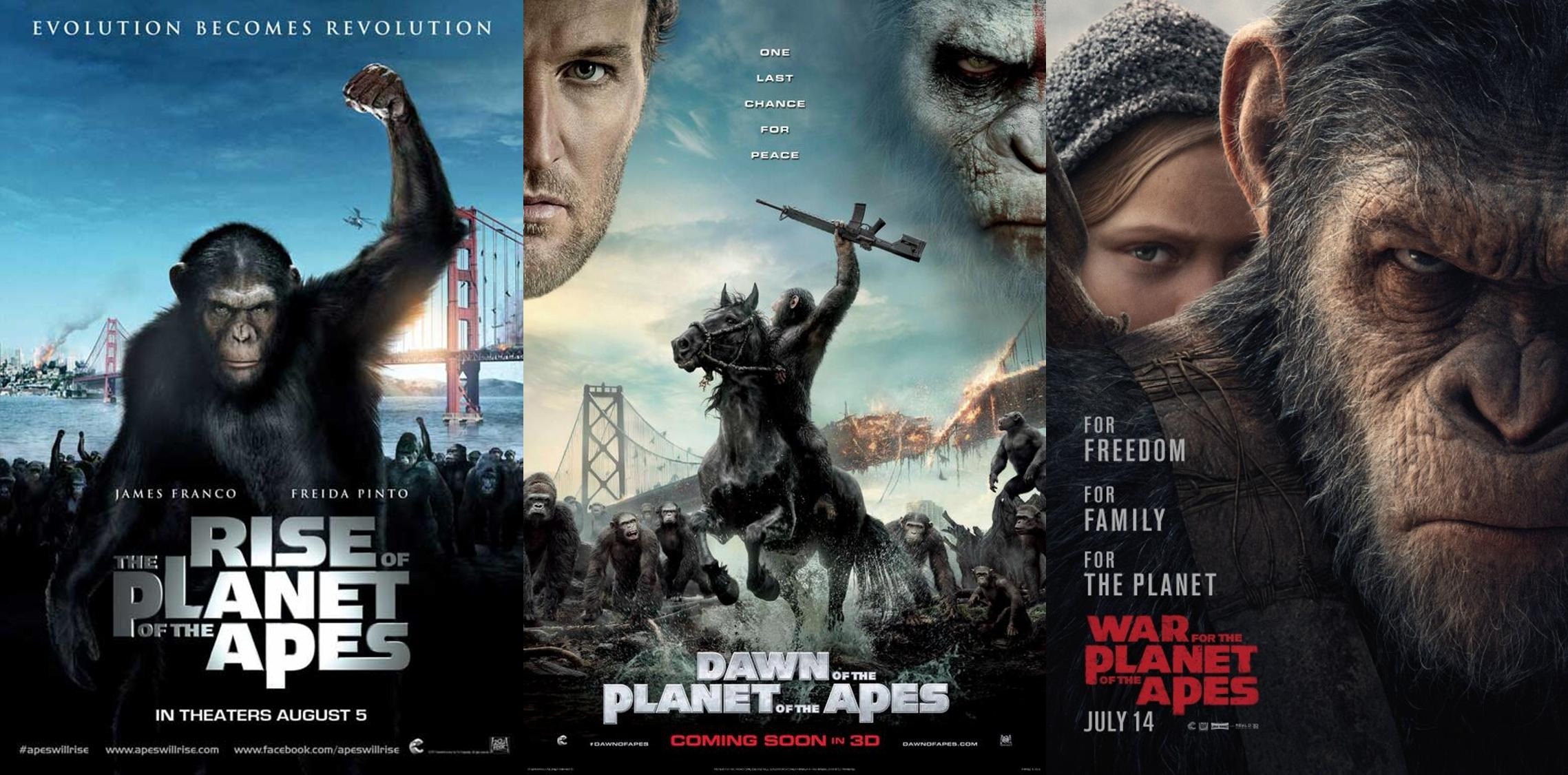 Planet of The Apes Reboot Collection (2011-2017) Dual Audio [Hindi + English] | x264 Bluray | 1080p | 720p