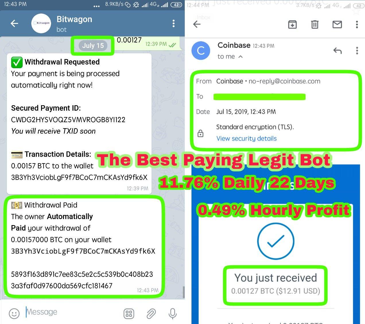 TRUST: 🎖Legit Bot, 0 0012 BTC Payo    - MasterGroupOfSpam