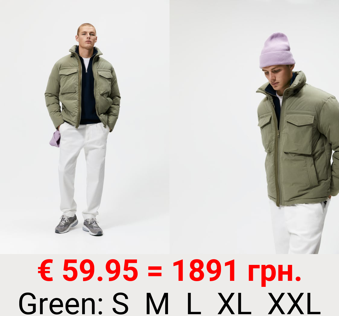 HOODED JACKET WITH POCKETS.
