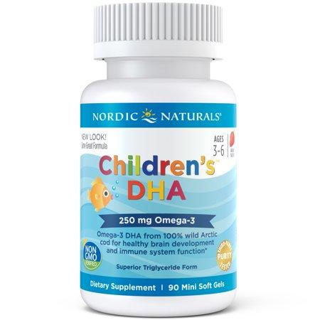 Nordic Naturals Children's DHA Mini Softgels, 250 Mg, 90 Ct