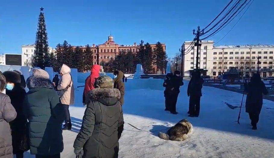 Финальная протестная акция уходящего года проходит в Хабаровске