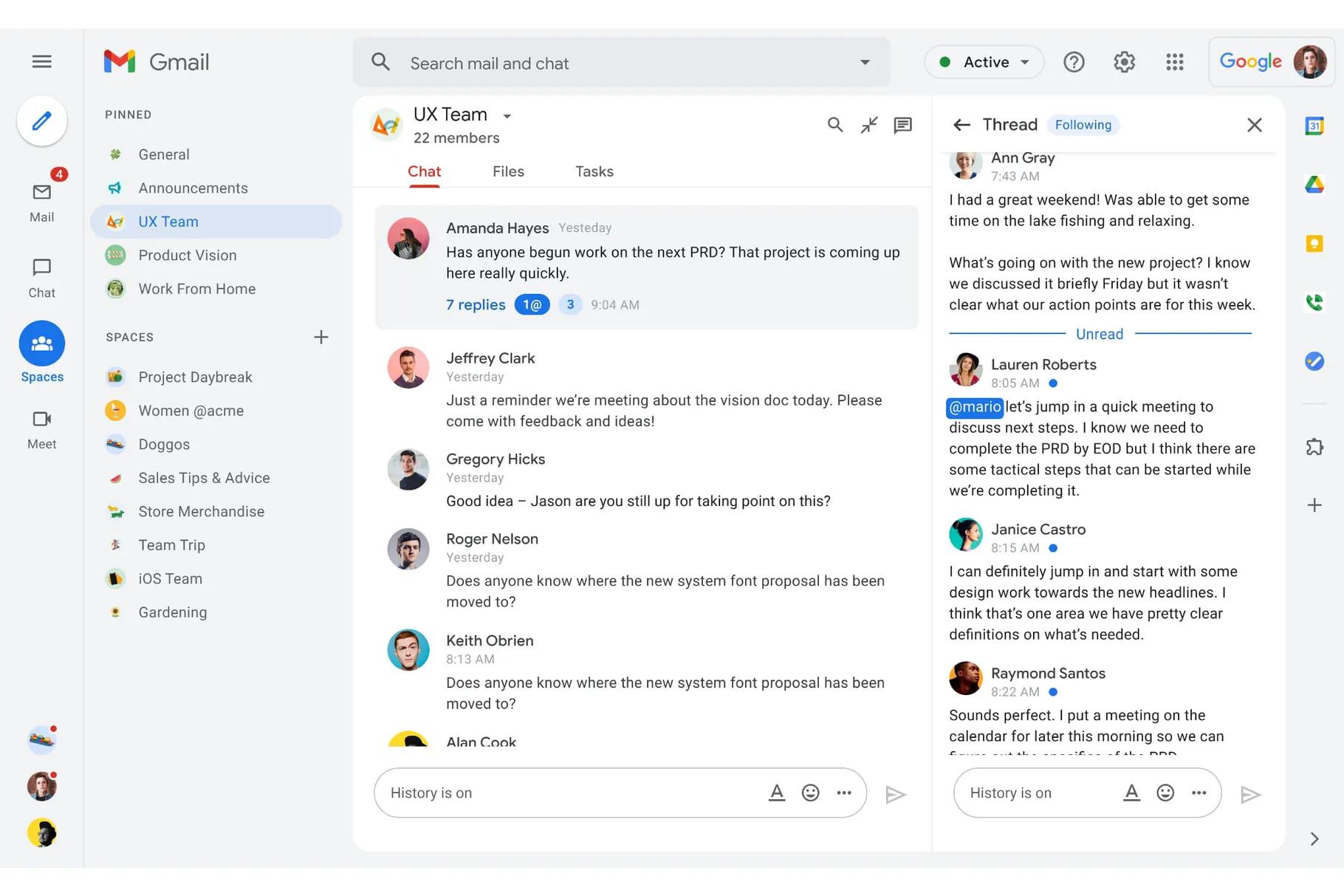 Google обновила Gmail и добавила звонки, чаты и каналы