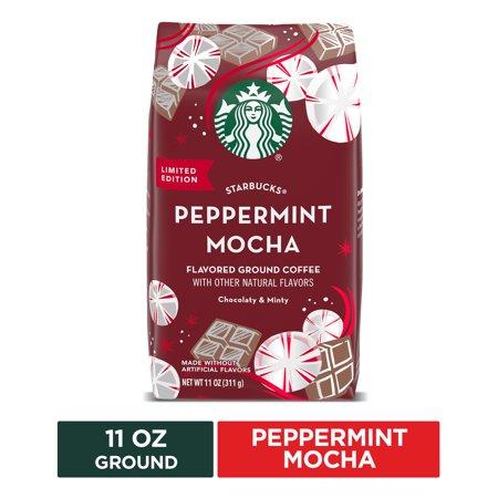 Starbucks Flavored Ground Coffee — Peppermint Mocha — 100% Arabica — 1 bag (11 oz)