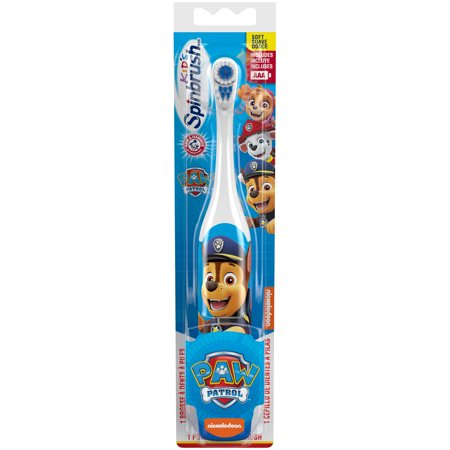 Arm & Hammer Spinbrush Kids Electric Battery Toothbrush, Paw Patrol, 1 count