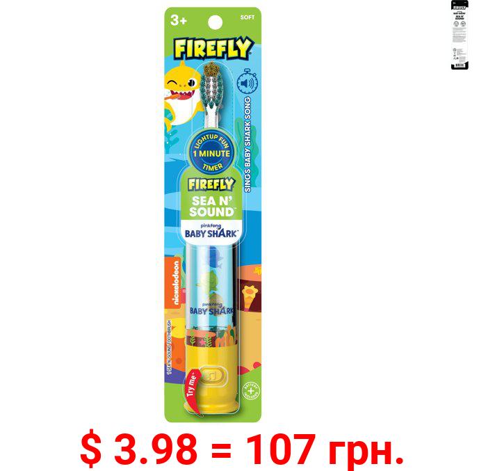 Firefly Baby Shark SEA & SOUND Toothbrush 1ct