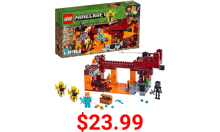 LEGO Minecraft The Blaze Bridge 21154 Building Kit (370 Pieces)
