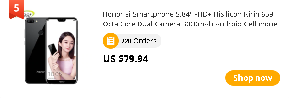 "Honor 9i Smartphone 5.84"" FHD+ Hisilicon Kirin 659 Octa Core Dual Camera 3000mAh Android Cellphone"