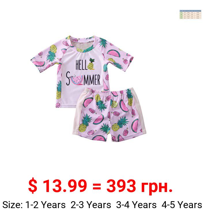 Fiomva Toddler Girl Kids Summer Swimwear Bikini Swimsuit Swimming Costumes Bathing Suit