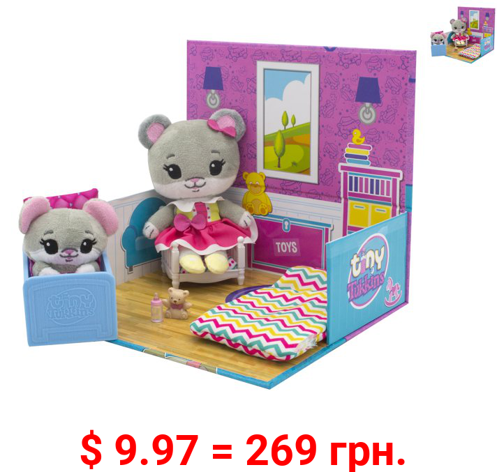 Tiny Tukkins Playset Assortment with Plush Stuffed Character, Mouse