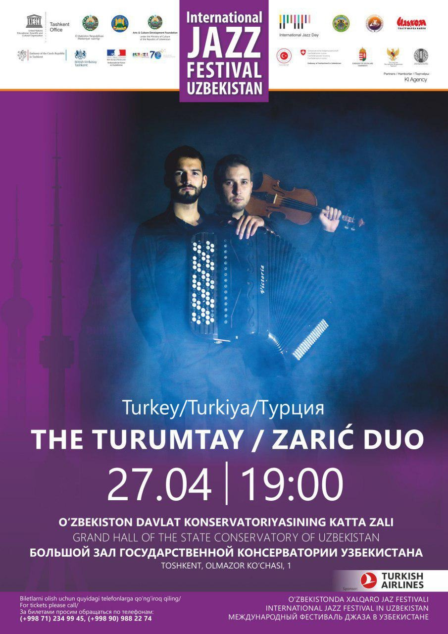 International Jazz Festival in Uzbekistan: The turumtay / Zaric Duo