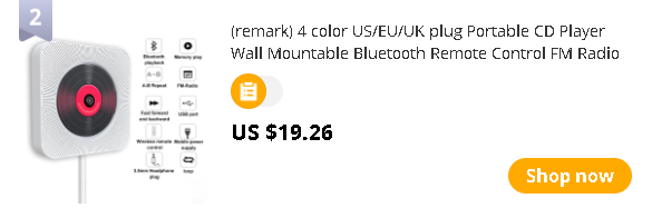(remark) 4 color US/EU/UK plug Portable CD Player Wall Mountable Bluetooth Remote Control FM Radio HiFi Speaker with USB 3.5mm