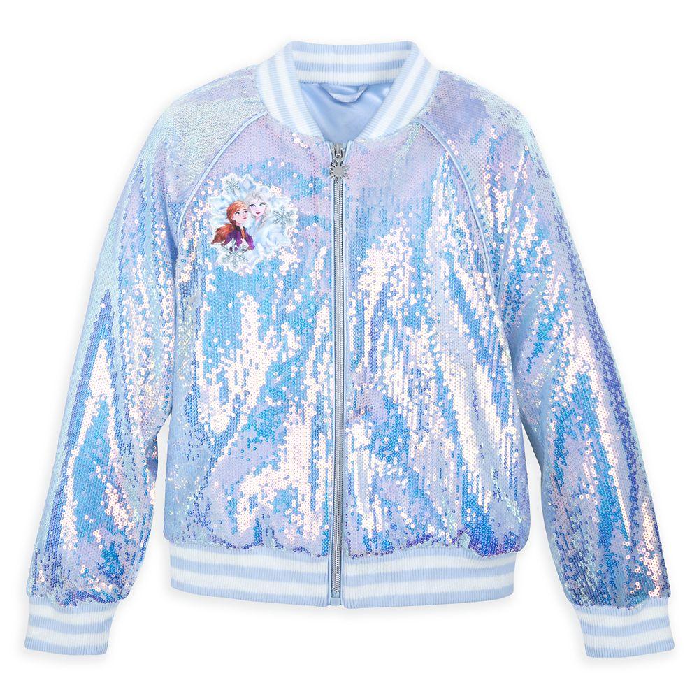 Anna and Elsa Sequin Varsity Jacket for Girls – Frozen 2