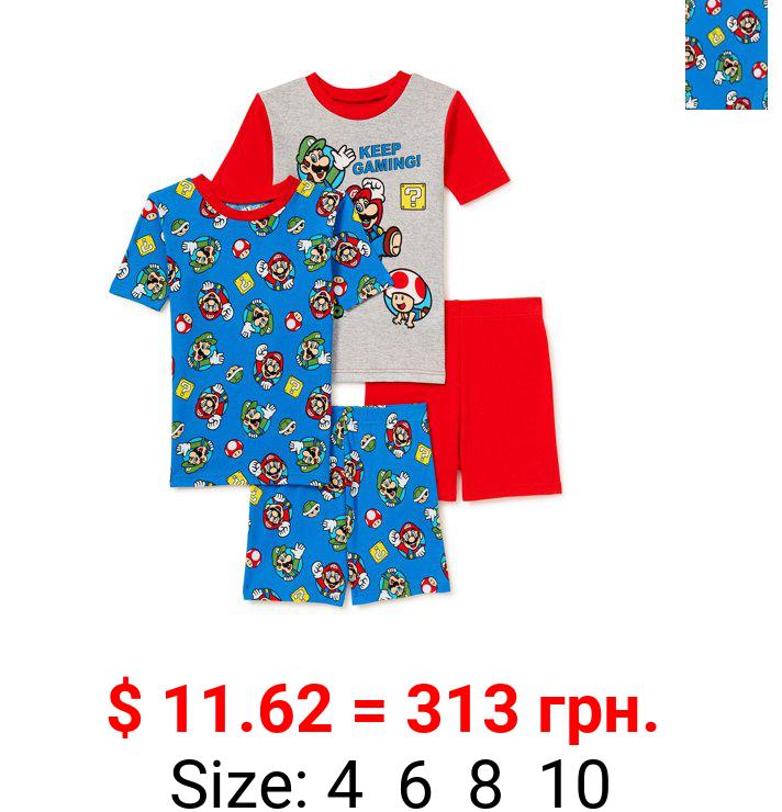 Super Mario Bros. Boys Pajama Set, 4-Piece