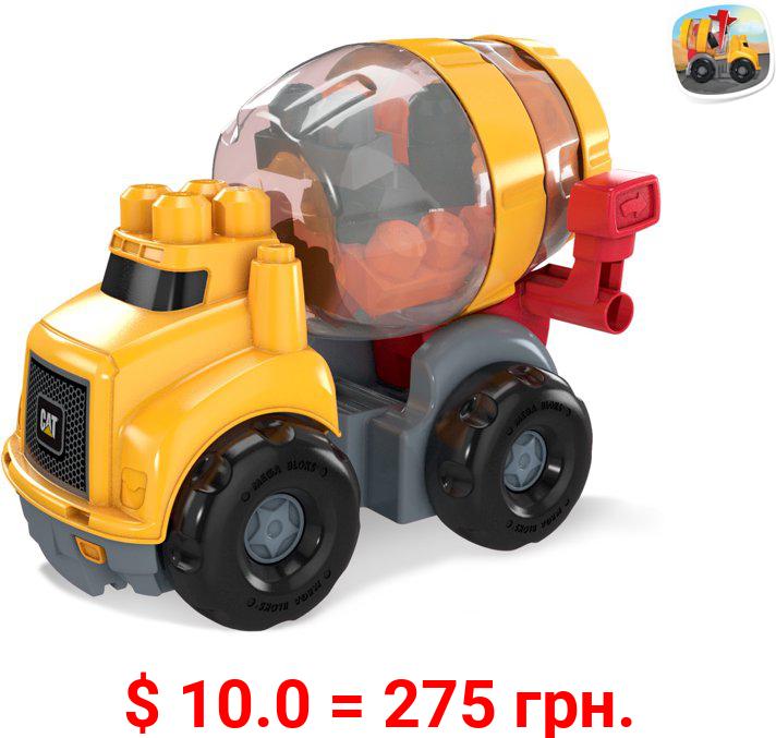 Mega Bloks CAT Cement Mixer Vehicle with 8 Building Blocks