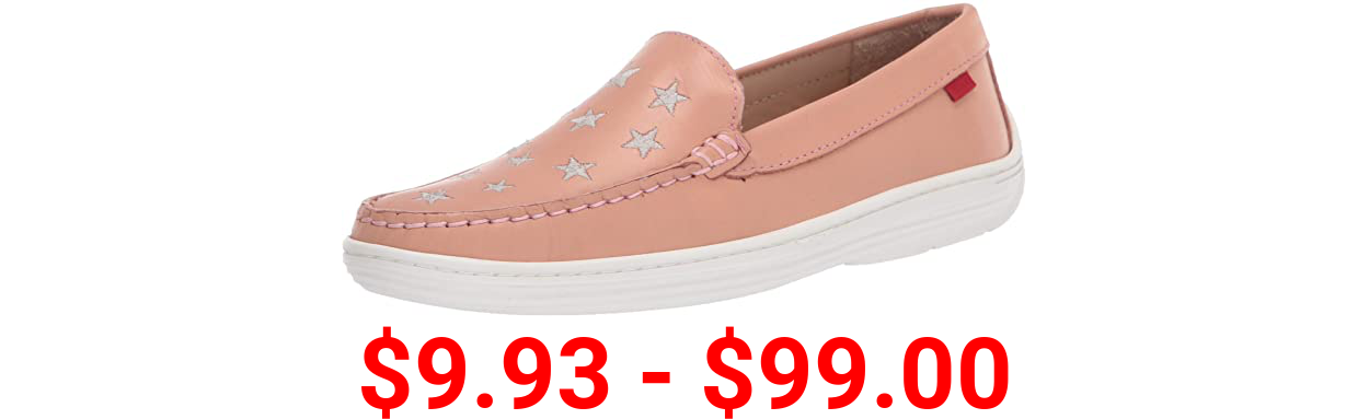 MARC JOSEPH NEW YORK Unisex-Child Leather Driver with Gold Star Detail Loafer