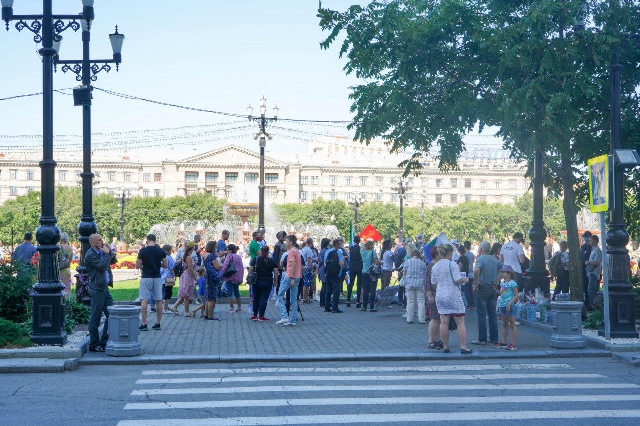 1200 человек насчитала Администрация Хабаровска на несанкционированном митинге