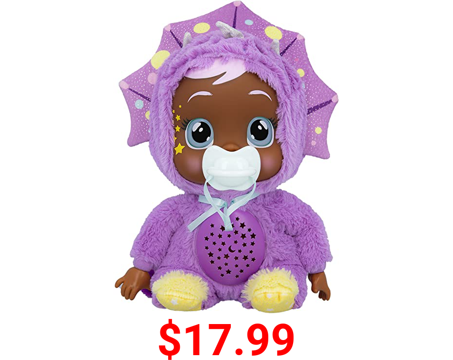"""Cry Babies Goodnight Starry Sky Phoebe - 12"""" Sleepytime Baby Doll   Plays 5 Lullabies and Night Light Starry Sky Projection"""