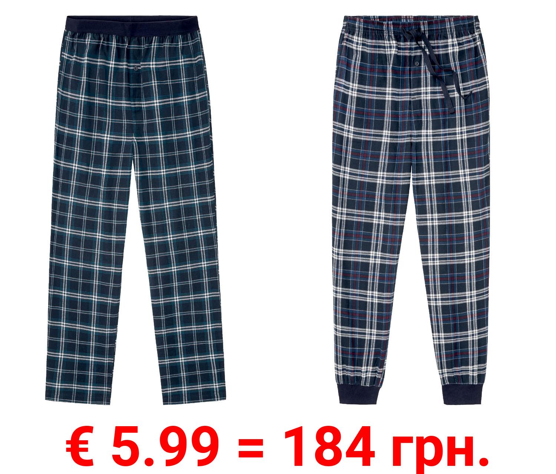 LIVERGY® Schlafhose Herren, aus reiner Baumwolle