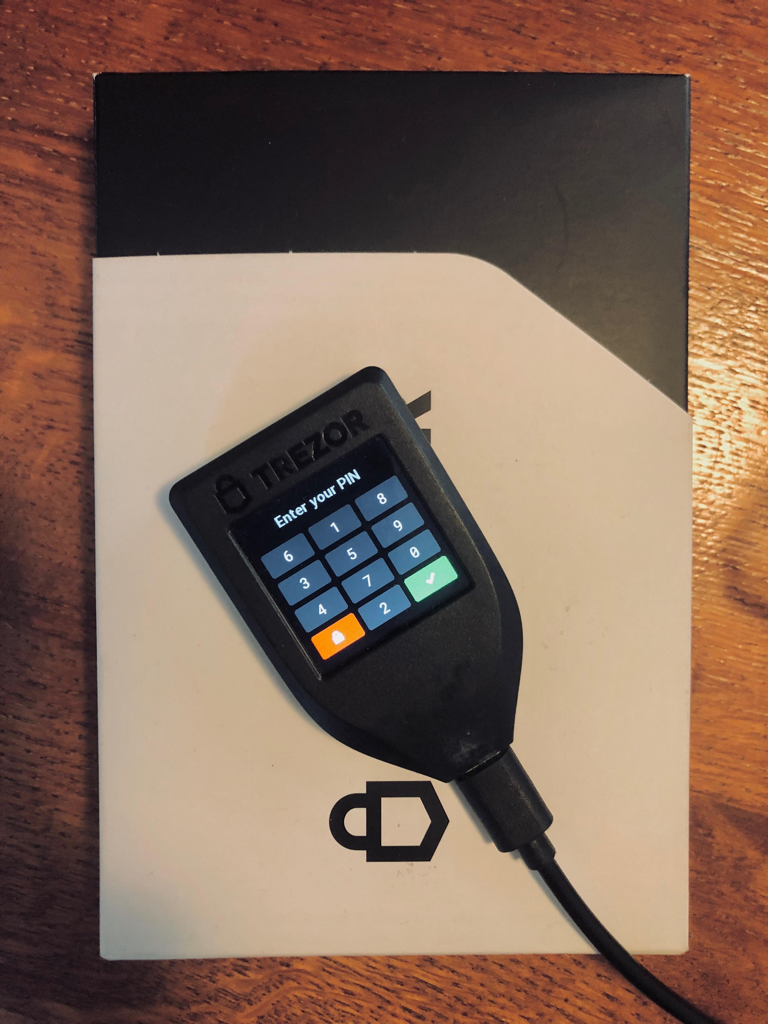 Trezor Model T Hardware Wallet trademark.