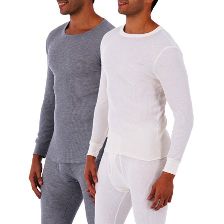 Fruit of the Loom SUPER VALUE Men's Core Waffle Thermal 2 Pack Top