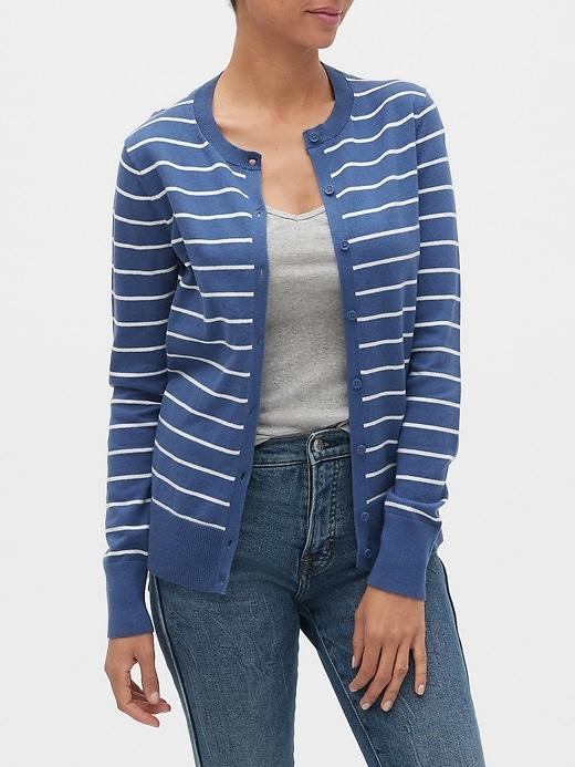 Crewneck Cardigan Sweater