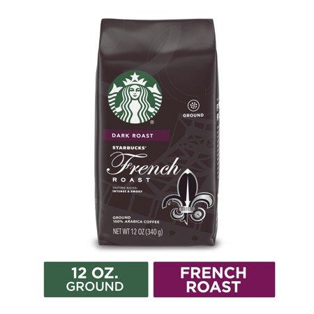 Starbucks Dark Roast Ground Coffee — French Roast — 100% Arabica — 1 bag (12 oz.)