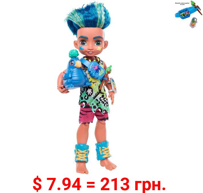 Cave Club Slate Doll (8 - 10-Inch) Prehistoric Fashion Doll with Dinosaur Pet