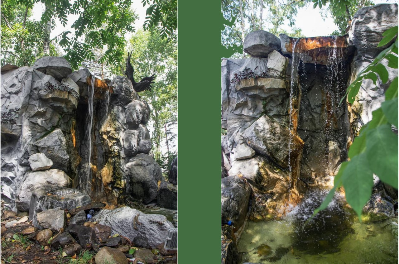 Водопад в Хабаровске