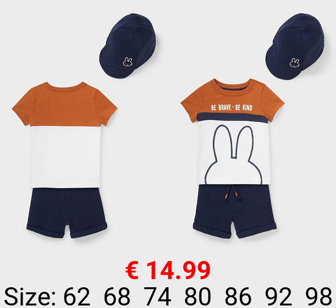 Miffy - Baby-Outfit - Bio-Baumwolle - 3 teilig