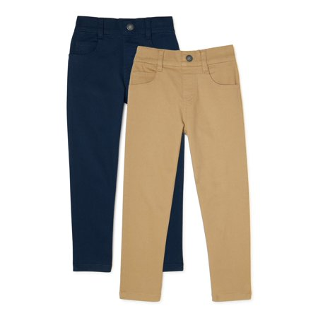 365 Kids From Garanimals Boys Woven Pants & Jeans, 2-Pack, Sizes 4-10