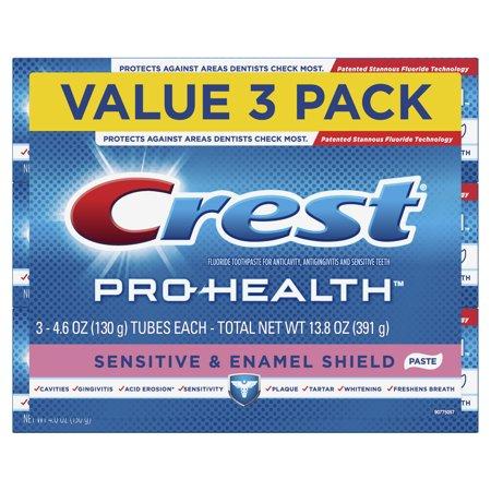 Crest Pro Health Sensitive, Enamel Shield Toothpaste, 4.6 oz, 3 Pack