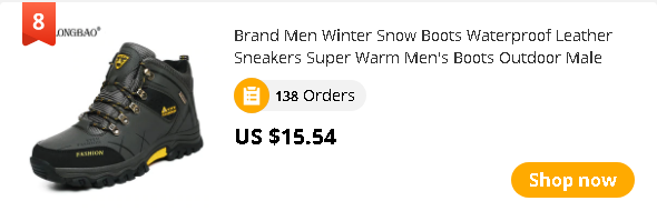 Brand Men Winter Snow Boots Waterproof Leather Sneakers Super Warm Men's Boots Outdoor Male Hiking Boots Work Shoes Size 39-47