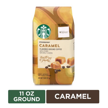 Starbucks Medium Roast Ground Coffee — Caramel — 1 bag (11 oz.)