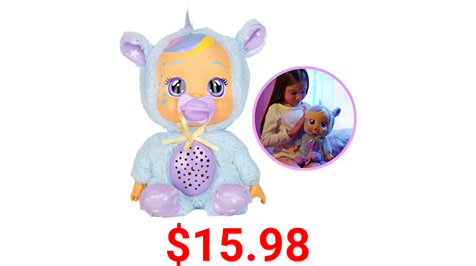 """Cry Babies Goodnight Starry Sky Jenna - 12"""" Sleepytime Baby Doll   Plays 5 Lullabies and Night Light Starry Sky Projection"""